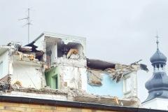 Haus-Geron, Abriss, Blick ins Dachgeschoss
